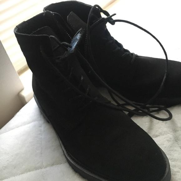 Zara Shoes | Zara Mens Suede Zipper